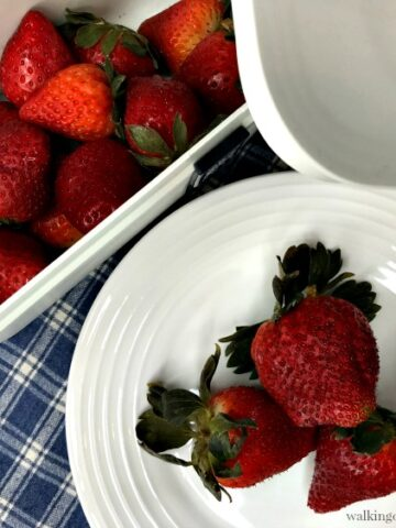Strawberries after 30 days in Vacuum Sealer from Walking on Sunshine Recipes