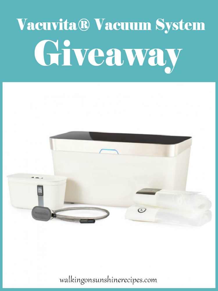 Vacuvita® Vacuum System Giveaway Promo Photo from Walking on Sunshine Recipes