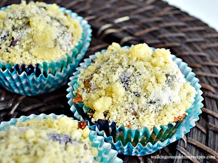 Blueberry Streussel Muffins from Walking on Sunshine Recipes