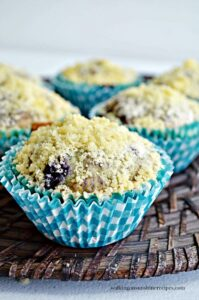Recipe:  Bakery Style Blueberry Streusel Muffins