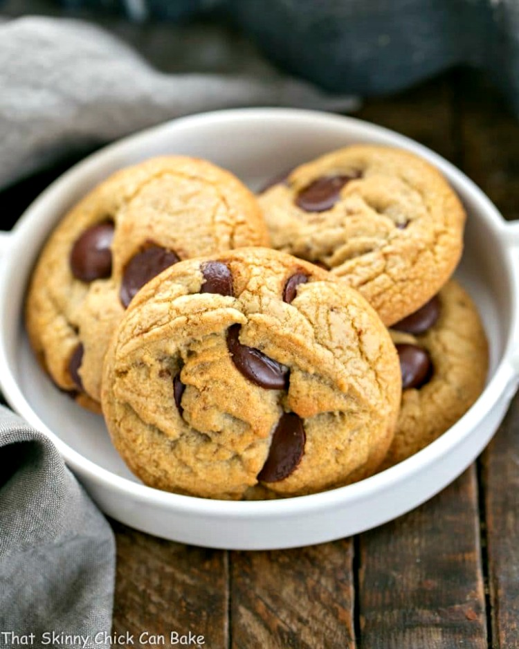 Brown Butter Chocolate Chip Cookies from That Skinny Chick Can Bake