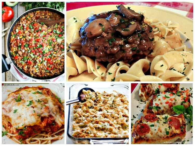 cheap family dinner ideas with printable menu planner