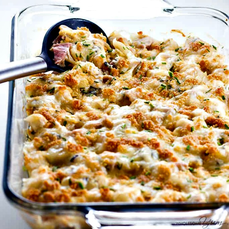 Chicken Cordon Bleu Casserole from Wholesome Yum