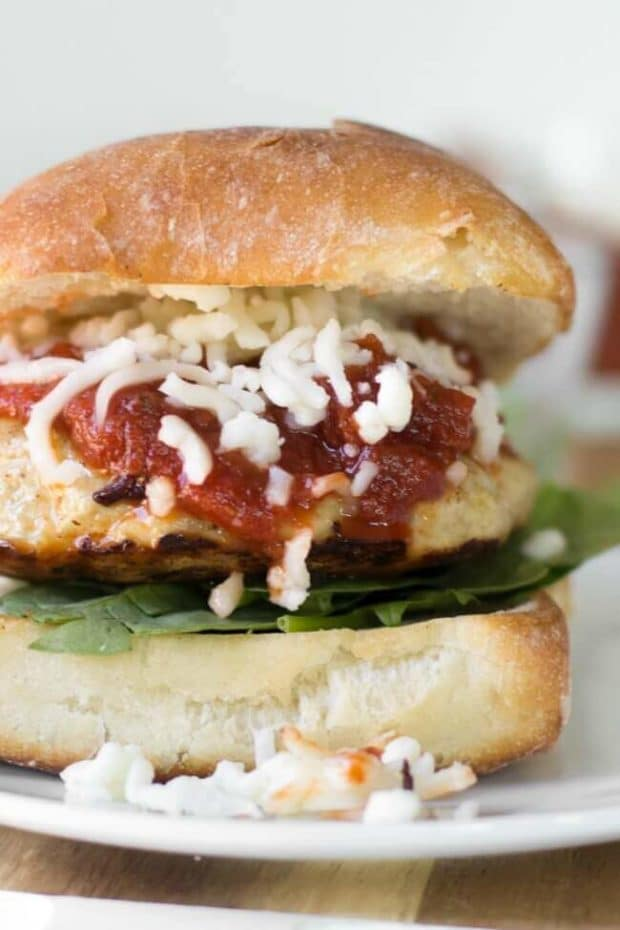 Chicken Parmesan Burgers from Spaceships and Laserbeams