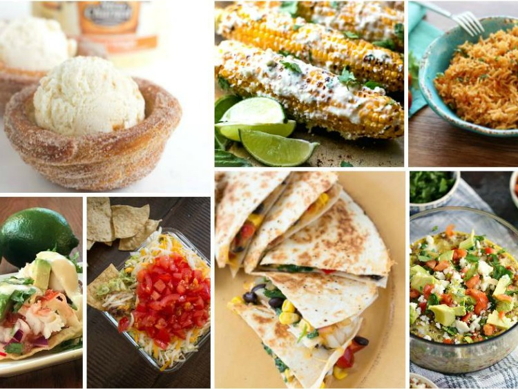 Fun Colorful Delicious Cinco de Mayo Recipes with our Delicious Dishes Recipe Party