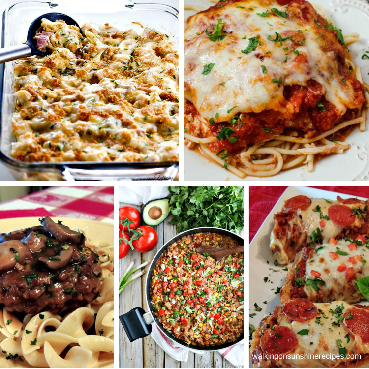 Casseroles and easy dinner ideas for this week's meal plan.