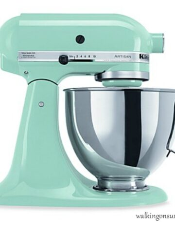 Featured photo for KitchenAid Giveaway Mixer from Walking on Sunshine Recipes