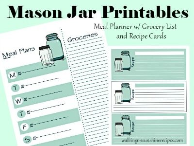 Tips: Printable Meal Planner with Grocery List and Bonus Recipe Cards