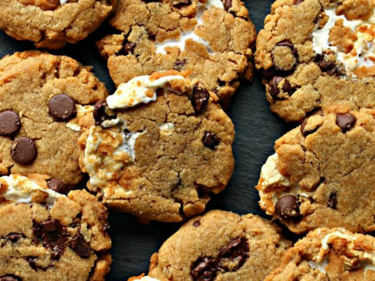 Flourless Smores Cookies featured on Delicious Dishes Recipe Party