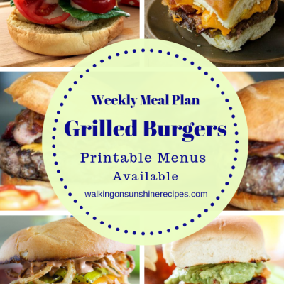 Weekly Meal Plan:  5 Delicious Burger Recipes