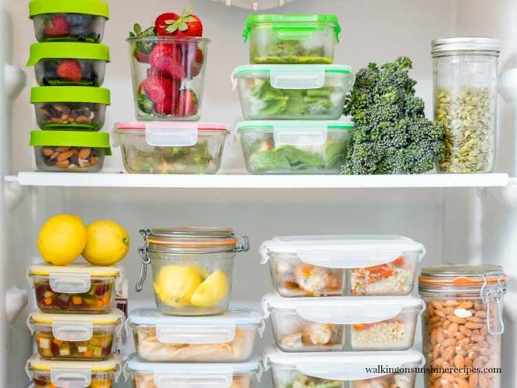 Tips on proper meal prep storage.