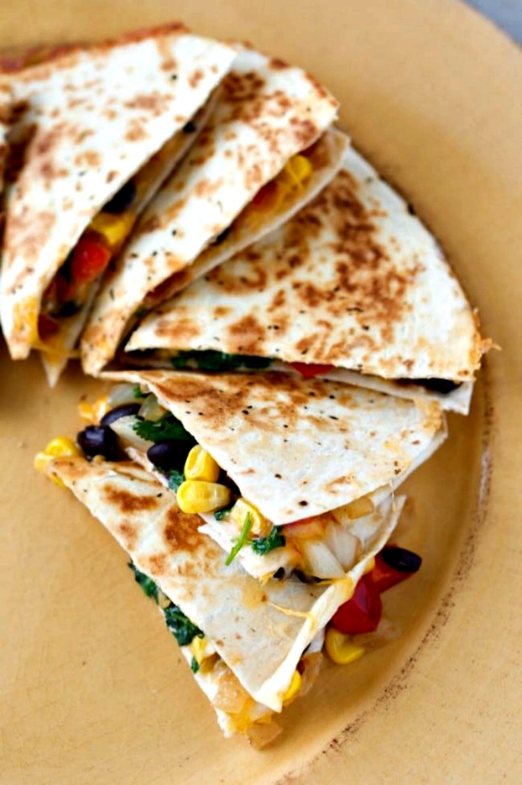 Loaded Southwest Quesadillas Recipe from A Mom's Take