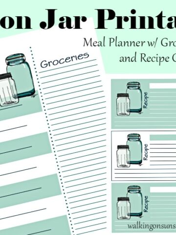 Mason Jar Meal Planner with Recipe Cards FEATURED photo from Walking on Sunshine Recipes