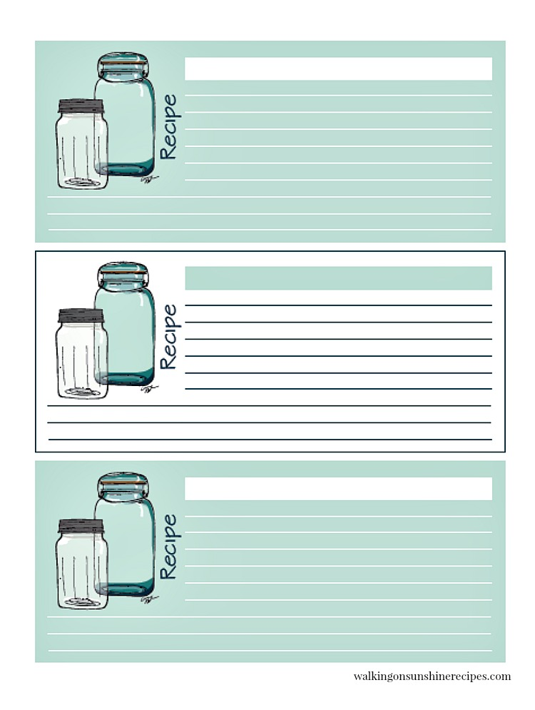 Mason Jar Recipe Cards WOS April 2018