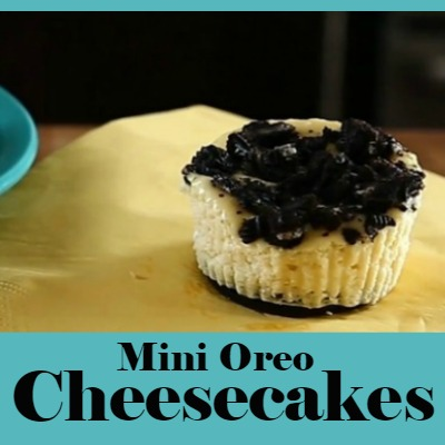 Recipe:  Individual Mini Oreo Cheesecakes with Video