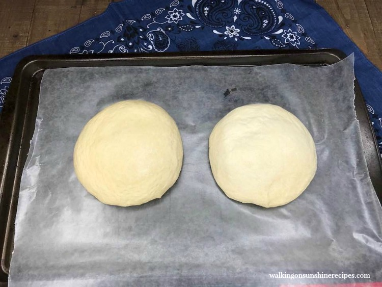 Place pizza dough on baking sheet to flash freeze