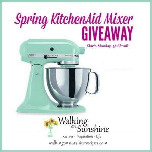 KitchenAid Mixer Giveaway 10 Year Blogiversary Celebration