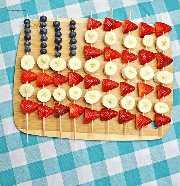 American Flag Fruit Skewers from My Turn for Us