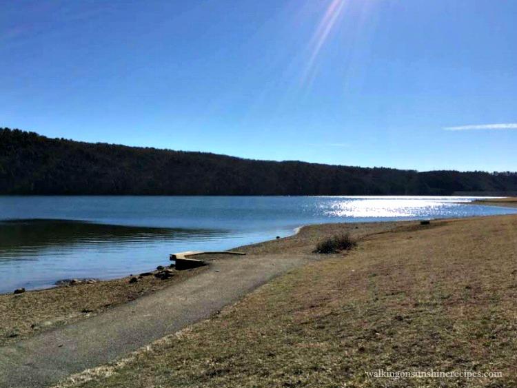 Beltzville Lake and beach in Northeast Pennsylvania.
