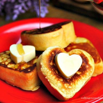 Heart Shaped Pancakes with VIDEO