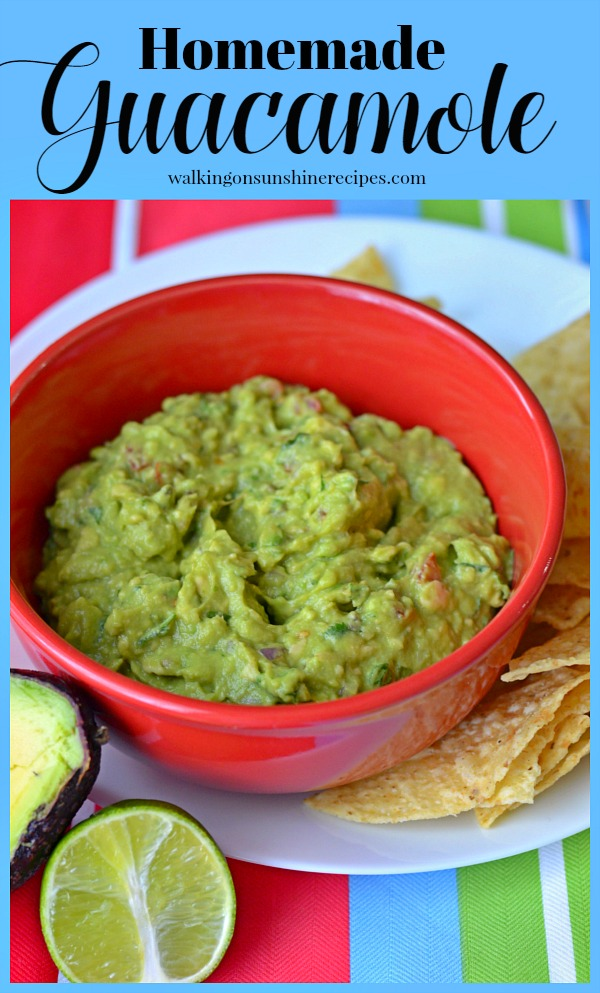 Authentic Homemade Guacamole - Ready in Minutes