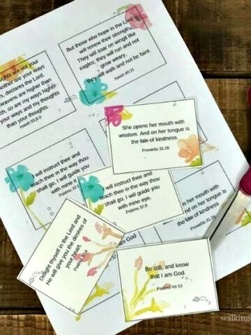 Mother's Day Scripture Cards FEATURED Photo from Walking on Sunshine Recipes