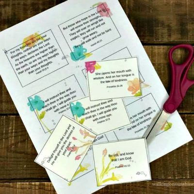 Inspiration: Mother's Day Printable Scripture Cards