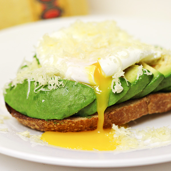 Poached Egg and Avocado on Sourdough Toast Recipe from Home Cooking Memories