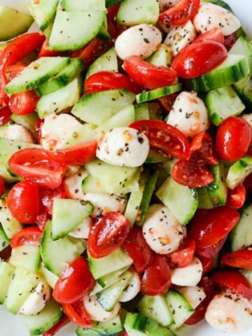 Cucumber Caprese Salad from Ann's Entitled Life cropped
