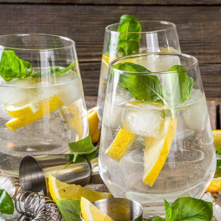 Lemon Basil Mint Spritzer