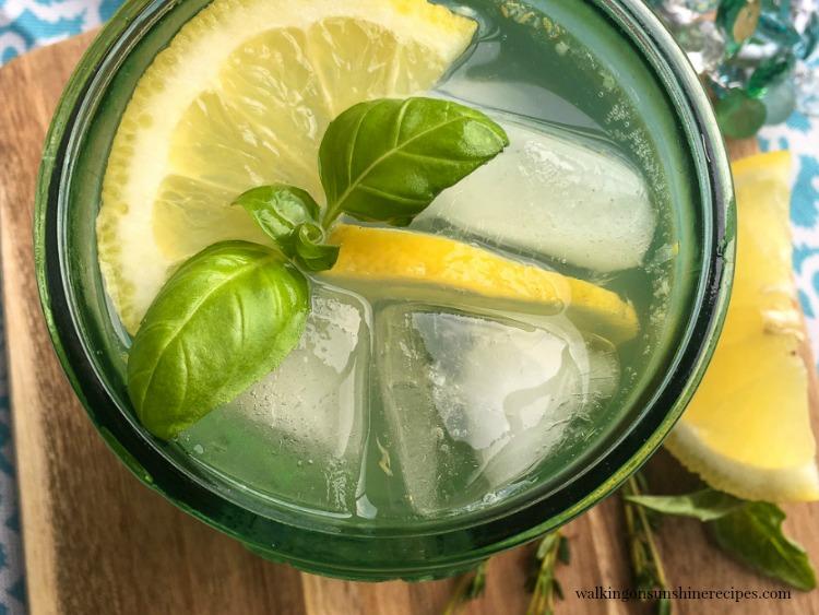 Lemon Basil Mint Spritzer FEATURED photo from Walking on Sunshine Recipes