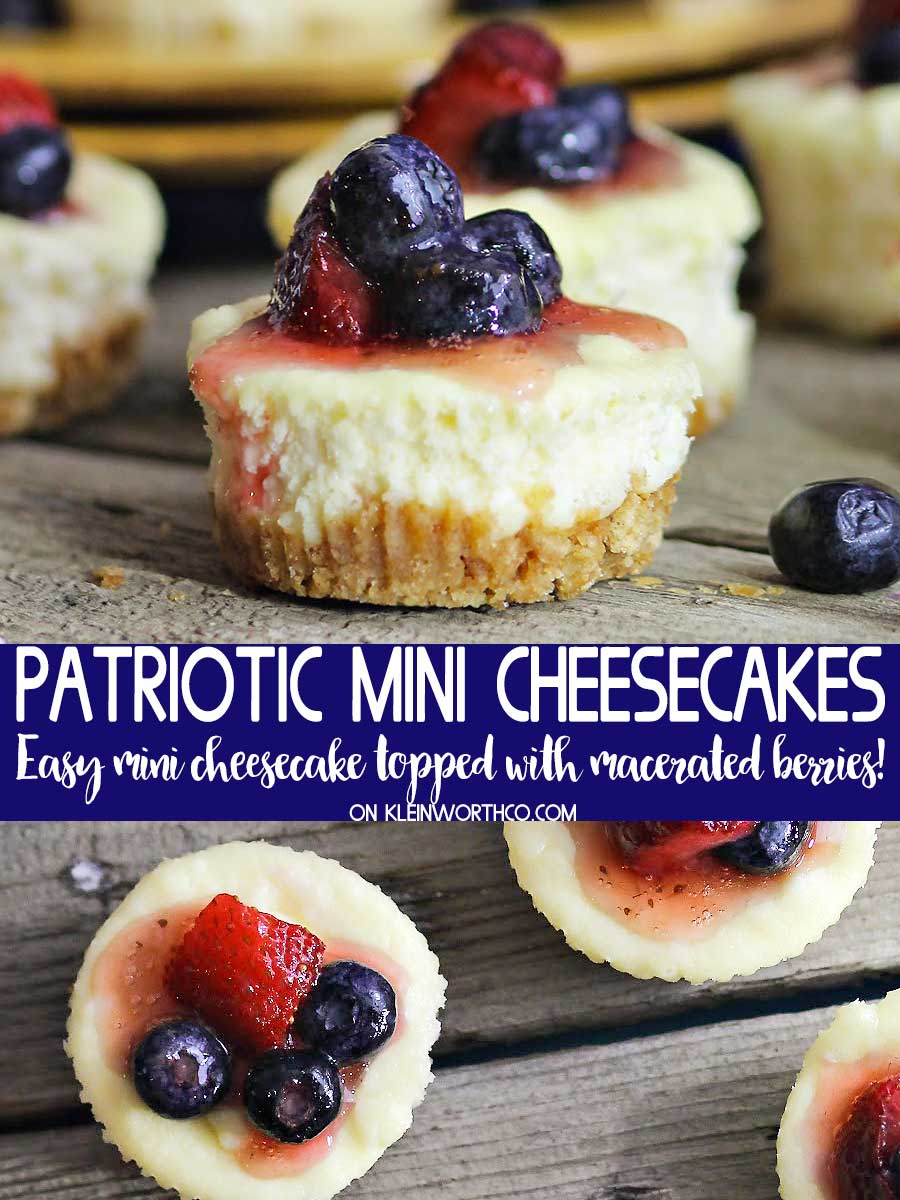 Patriotic Mini Cheesecakes from Kleinworth and Co.