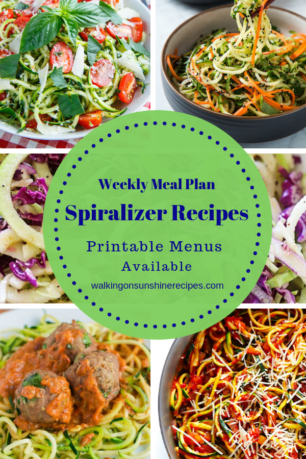 5 Delicious Spiralizer Recipes to replace pasta.