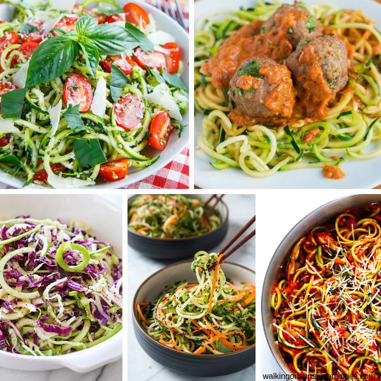 5 easy to make spiralizer recipes.