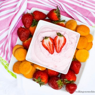 Strawberry Fruit Dip from Walking on Sunshine Recipes FEATURED photo