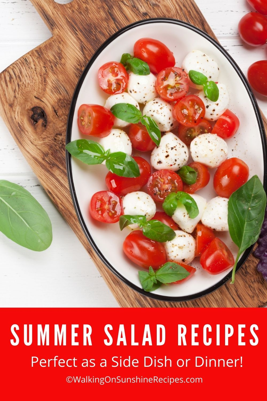 Tomato, mozzarella, basil leaves. Caprese salad on a plate.