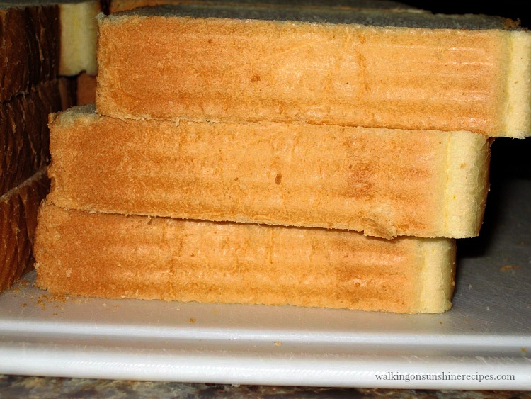 Thick slices of Texas Toast Bread used for Overnight French Toast Casserole