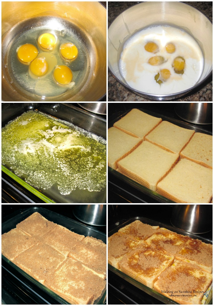 Texas Toast French Toast Casserole step-by-step photos