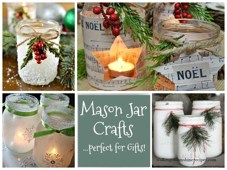Christmas in July Mason Jar Crafts FEATURED photo from Walking on Sunshine Recipes Perfect for Gifts!