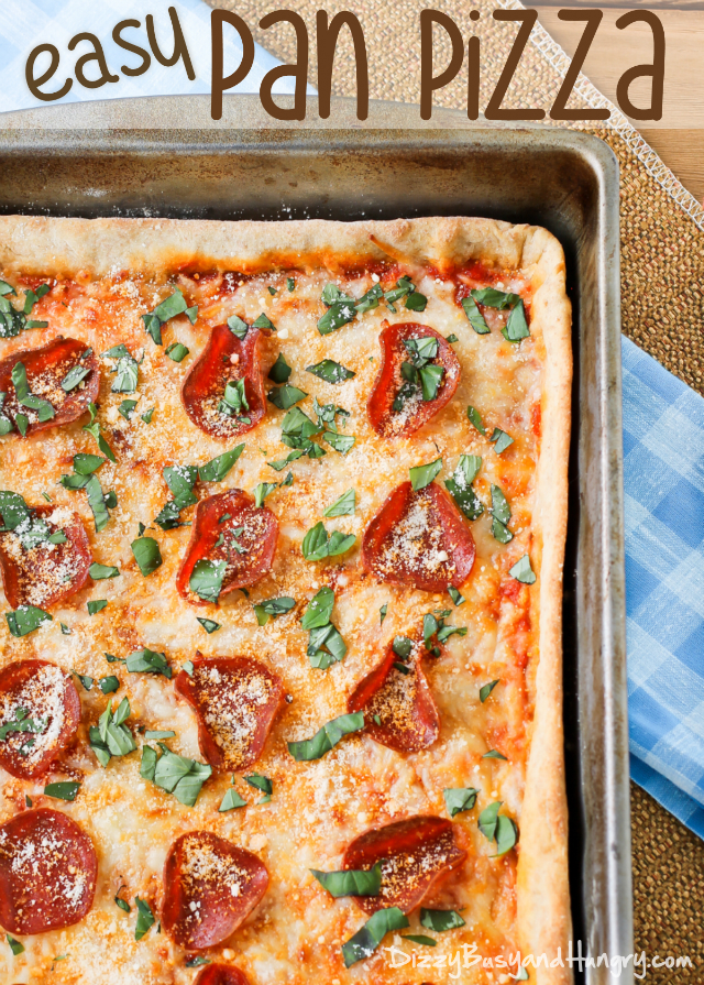 Easy Pan Pizza from Dizzy Busy and Hungry