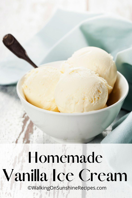 4 quart ice cream maker recipe for vanilla ice cream.