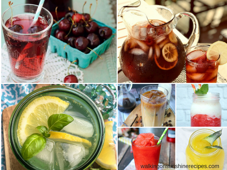 7 Non-Alcoholic Summer Drink Recipes featured collage photo.