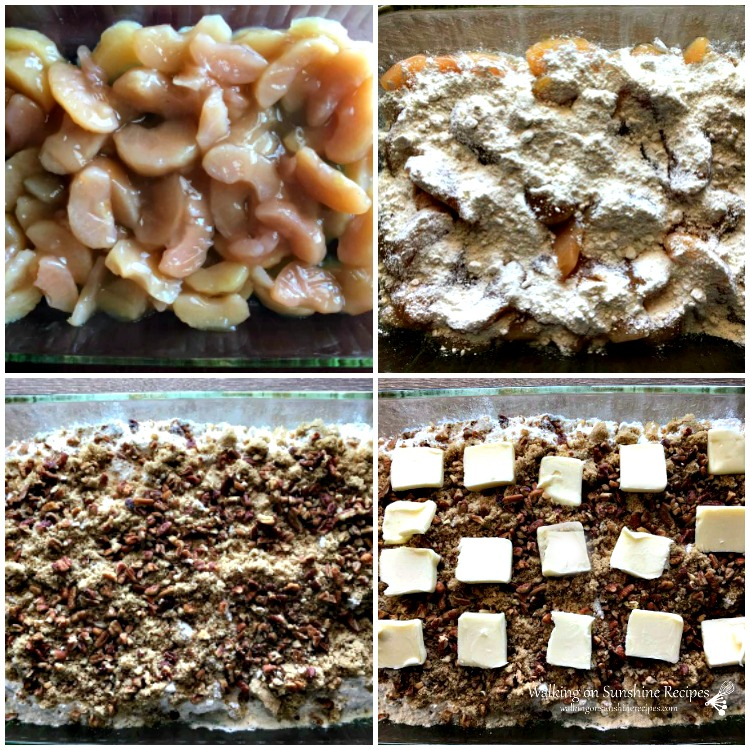Apple dump cake step by step photos