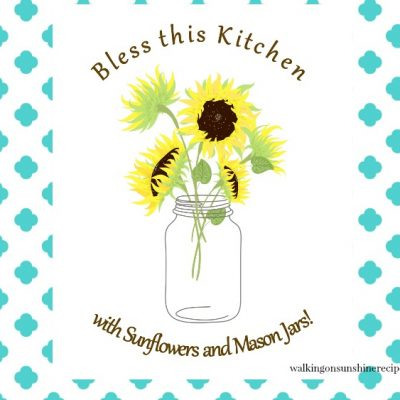 Mason Jar and Flowers Printable