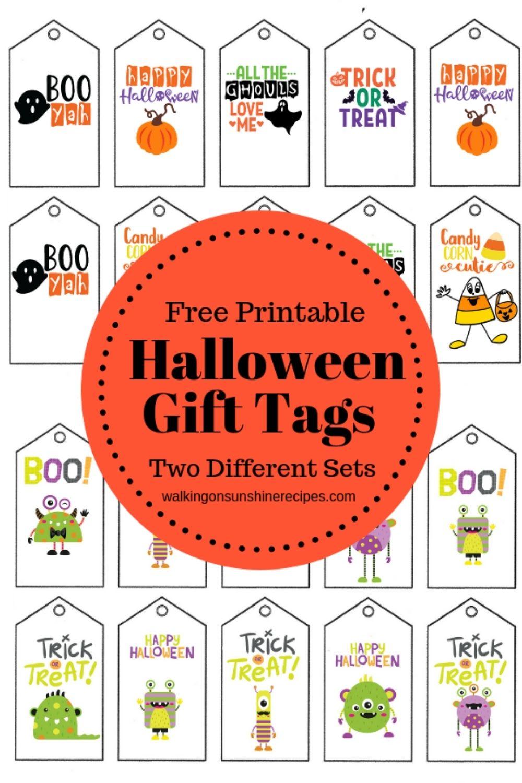 printable Halloween Gift Tags.