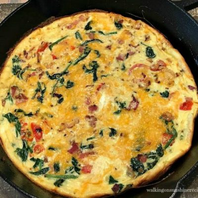 Spinach Bacon Cheese Frittata