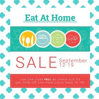 Eat at Home Menu Planning