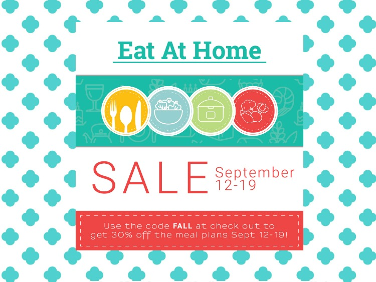 Eat at Home Menu Planning Fall Sale