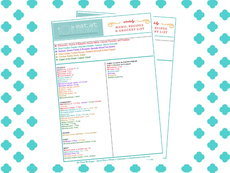 FREE Sample Menus
