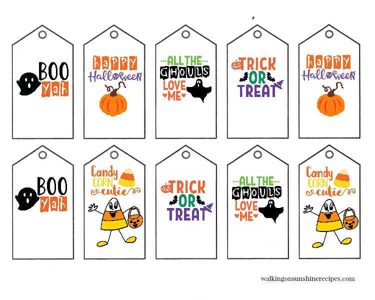 graphic regarding Printable Holloween Pictures identify Printable Halloween Present Tags Strolling Upon Sun Recipes